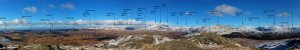 Panorama from Green Crag with names