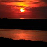 Sunset over Eskmeals