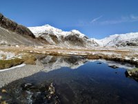 Upper Eskdale, reflections in the Esk